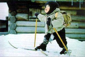 Простой советский лыжник