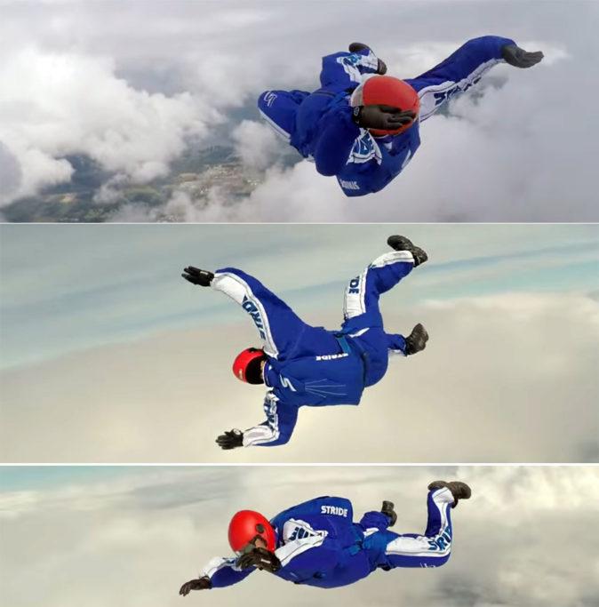 Люк Айкинс прыжок без парашюта